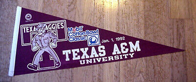 OLD 1970s UTEP MINERS TEXAS EL PASO FUL SIZE PENNANT UNSOLD CONCESSIONS STOCK