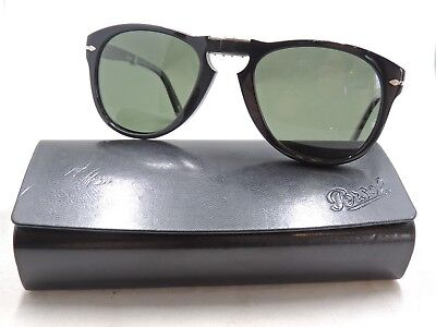 367f9301a48 Persol 714 95 58 Polarized Black Folding Sunglasses 54 21 140 With Case  2