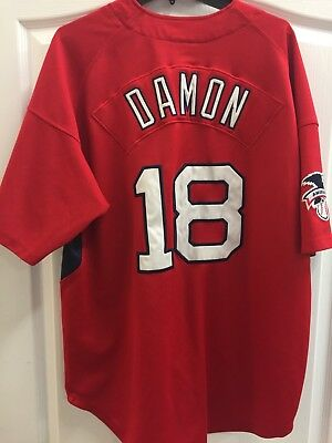 99c35932a07 Boston Red Sox Stitched Mens XL Johnny Damon Red Jersey by Nike Genuine MLB