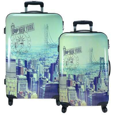 Set Maleta Casos de Viajes Conjunto New York con Ruedas Carcasa Dura Big Apple +