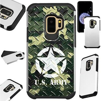 FusionGuard Case For Samsung Galaxy S9 S8 Note 8 Phone Case US ARMY CROSSHATCH