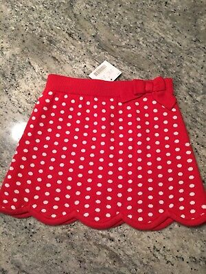 Nwt Janie And Jack Girls Skirt Size 5T Vintage Line Sweet Lady Bug 2010 Dots Red