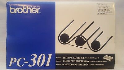 Genuine Brother PC-301 Printing Cartridge for Fax-750, Fax-770, Fax-870MC