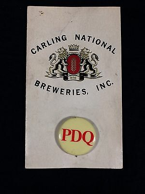 Vintage Carling National Breweries Beer Pinback Button Salesman