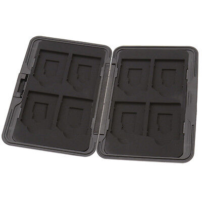 8 x SD Micro Memory Card Storage Case Holder Hard Carrying Box Black Aluminum ZX