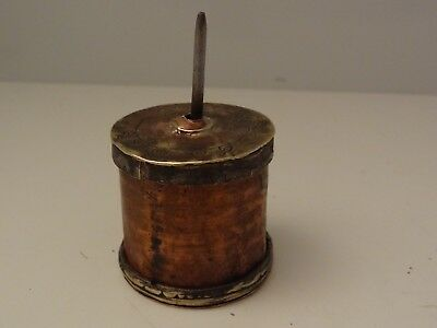 Antique Mongolian Buddhist Handmade Copper Mani Prayer Wheel # 1