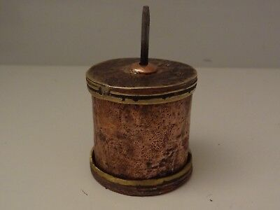 Antique Mongolian Buddhist Handmade Copper Mani Prayer Wheel