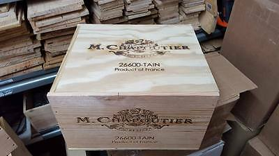 1 X 6 Bottle With Lid - Genuine French Wooden Wine Crate Box Wedding Card Idea