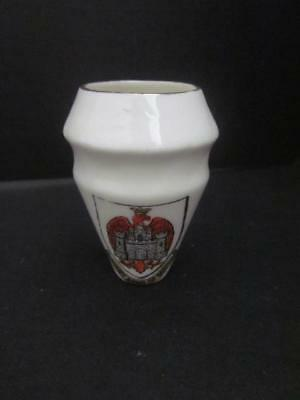 """W. H. Goss China Crested Ware Arms of Bedford, Musselburg NB Canada,  2"""" Tall"""