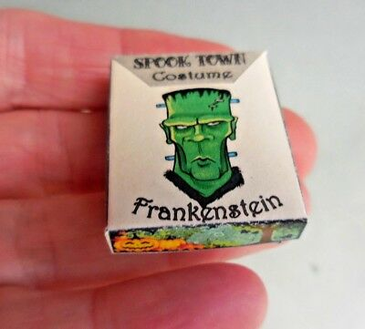 Dollhouse Miniature ~ Halloween Frankenstein Costume Box