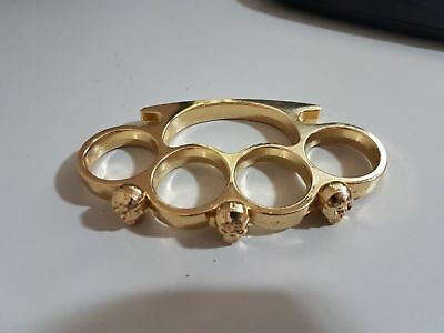 Tirapugni Skull Crome Gold And Black Da Collezione Brass Knuckles