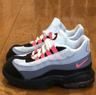 """0cea31caeb2 VNDS NIKE AIR Max 95 """"Black  Solar Red  Grey"""" sz 6c Toddler Infant ..."""