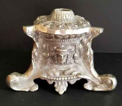 Vintage Antique Ornate Lamp Base - Steampunk Pipe Lamp Parts - Mixed Brass Metal