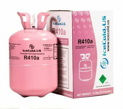 R410A Refrigerant Sealed 25 lb Cylinder Virgin Tank 410a HVAC