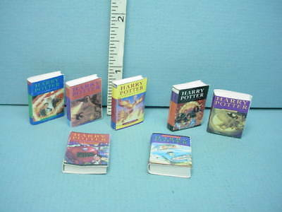 Miniature Boy Wizard Fantasy Novels (7) #179 A Novel Idea Color Printerd Covers