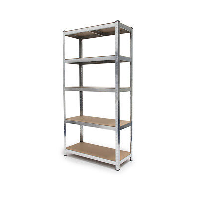 Heavy Duty Shelving Unit, Steel Shed or Garage Shelves, 5 Shelves Metal & MDF