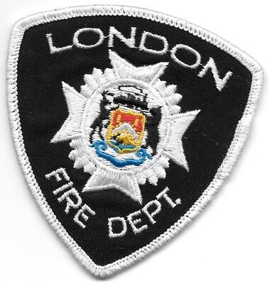 "London  Fire Dept., Ontario, Canada  (3"" x 3.25"" size)  fire patch"