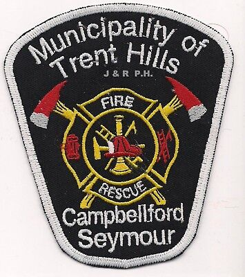 "Trent Hills / Capbellford  Fire Dept., Canada  (4"" x 4.75"" size)  fire patch"