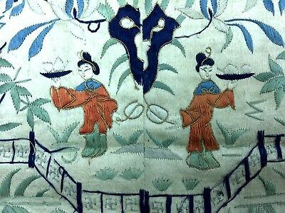 19 C. Chinese Silk Embroidery Textile.