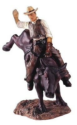 "8"" Inches Western Cowboy Bull Rider Rodeo Figurine Figure Statue"