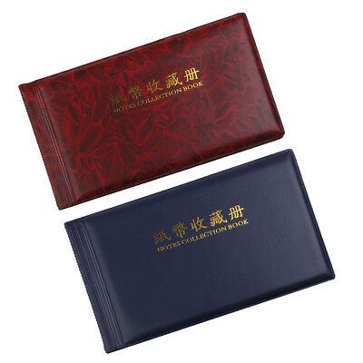 2pcs 30 Pages Paper Money Currency Banknote Collection Album Storage Pockets