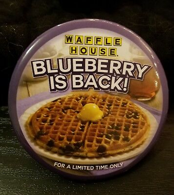 Lot of Waffle House Pins, Brand New! NEVER USED - Blueberry is Back!