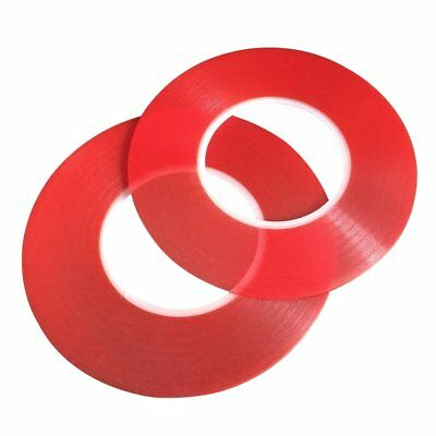 2Pcs 3M RED Double Sided Super Sticky Heavy Duty Adhesive Tape for Cell Phone