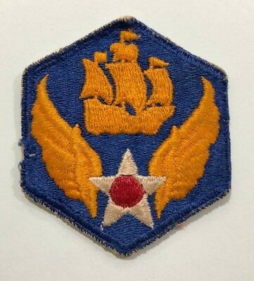 WW2 US Army Air Corps 6th Air Force Class A Patch - Original Embroidered UNUSED
