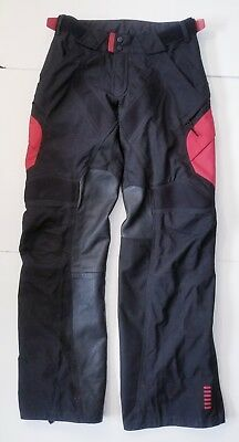 FOX Racing Panther Pants Motocross Mens Size 28 Black Red Leather All Weather