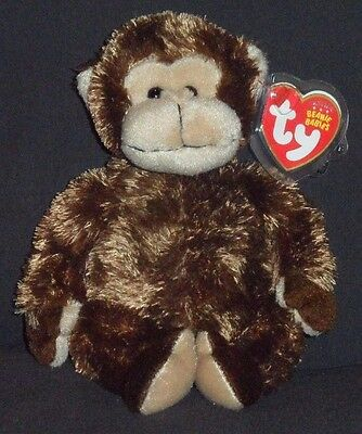 TY VINES the MONKEY BEANIE BABY - (ORIGINAL VERSION) - MINT with MINT TAGS