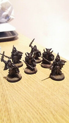 6 Black Numenoreans Warriors - Metal, Well Painted, Undamaged - Games Workshop
