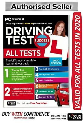 2019 Driving Theory Test Success All Tests And Hazard Perception PC DVD ROM*Atpc