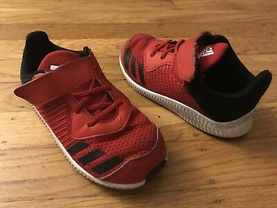 New adidas Fortarun EL BY2698 Sneaker Running Red Black Toddler Infant Size 5-10