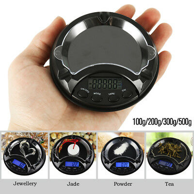 Ashtray Pocket Scale 0.01-500g Mini LCD Compact Digital Weigh Electronic Measure