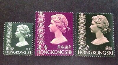 Hong Kong 1973 3 X Stamps To $10.00 Mint Mnh