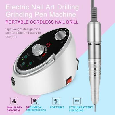65W Pro Electric Nail Polisher File Drill Manicure Pedicure Machine Kit US/EU