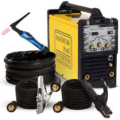 TIG Welder Welding Machine Portable Inverter MAGNUM 200 AMP THF 215 AC/DC Pulse