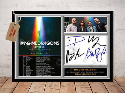 Imagine Dragons Evolve Tour 2018 Autographed Signed Music Photo Print