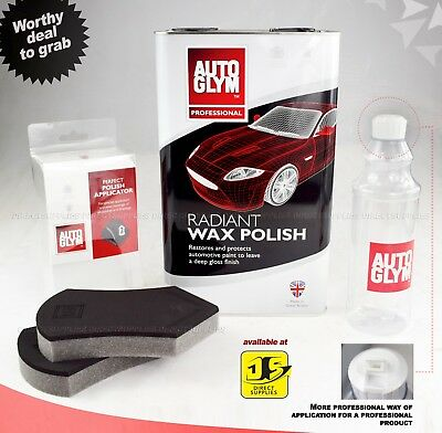 Autoglym Radiant Wax 5L, Polish Applicator + Free 500 Ml Bottle With Special Cap