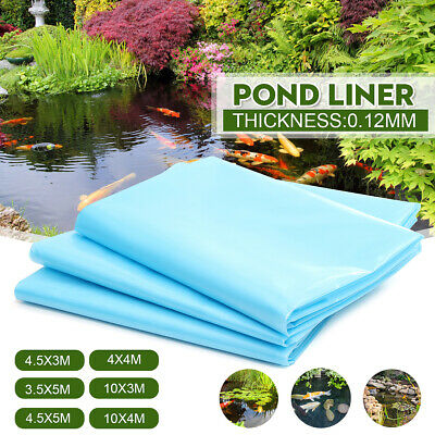 Fish Pond Liner Gardens Pools HDPE Membrane Reinforced Landscaping 6 Sizes Blue