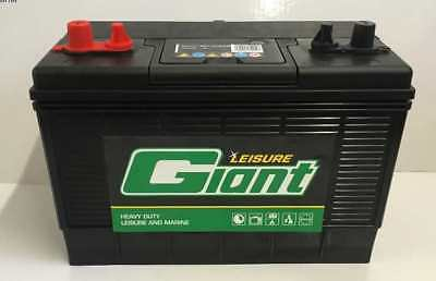 Giant  Twin Post 12V 110Ah Deep Cycle Leisure  Battery Marine Etc Fast Dispatch!