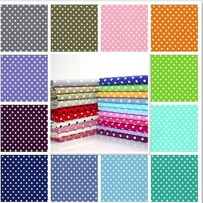 6/7mm Polka Dot Spot100% Cotton Poplin Fabric Rose and Hubble Spots Dots