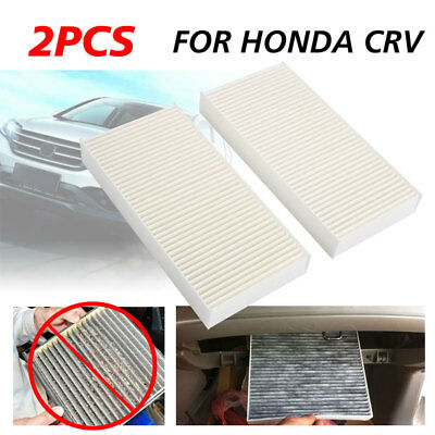 2x Replacement Automotive Cabin Conditioning Air Filte For Honda Crv Cev Civic