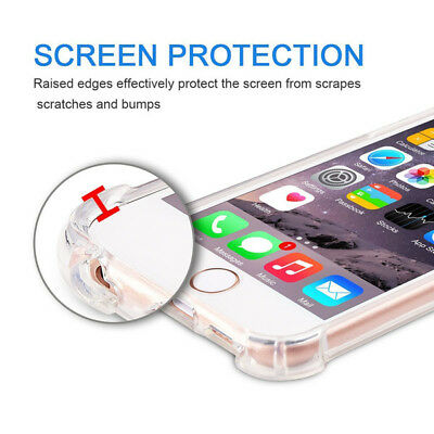 For Samsung Galaxy S6 Edge/ S7 / S8 Plus Shockproof Soft Clear Case Phone Cover