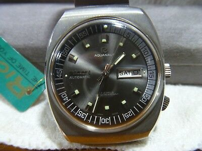 Vintage-Ricoh-Aquanaut-Day-Date-Automatic-Stainless-Steel-New-Old-Stock