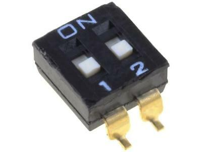 A6S-2102-H Switch DIP-SWITCH Poles number2 ON-OFF 0.025A/24VDC 100MΩ OMRON