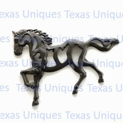 Cast Iron Rustic Finish Horse Wall Plaque CI25