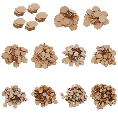 MDF/Wood Hexagon Shapes Wooden Embellishment for Crafting Sewing Decorating