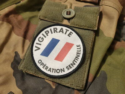 "SNAKE PATCH - écusson "" OPERATION SENTINELLE "" vigipirate DEFENSE Armée FAMAS"
