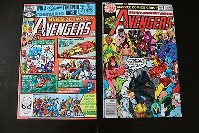 Avengers Annual #10 & Avengers 181!! Captain Marvel! 1st Rogue! 1st Hank Pym!!